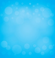 defocused lights blue abstract bokeh background vector image vector image