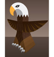 eagle totem vector image vector image