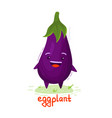 eggplant with a smiley face vector image vector image