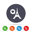 eiffel tower icon paris symbol vector image