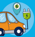 electric car vehicle vector image vector image
