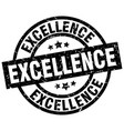 excellence round grunge black stamp vector image vector image