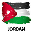 flag of jordan from brush strokes vector image