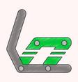 flat shading style icon snowboard binding vector image
