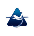 flight airport air plane bag silhouette logo vector image vector image