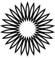 flower flat shape ornament chamomile vector image