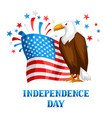 fourth july independence day print vector image vector image