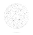 Global Network Lines with Dots Connection vector image