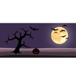 halloween background cartoon vector image vector image