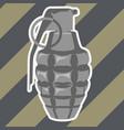 hand fragmentation grenade - high-explosive shell vector image vector image