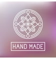 hand made label in outline trendy style vector image