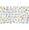healthy lifestyle banner vector image vector image