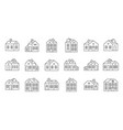house outline icon pixel perfect vector image vector image
