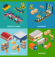 industrial facilities design concept vector image vector image