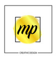 initial mp letter logo template design vector image vector image
