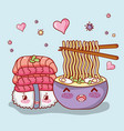 japanese food kawaii vector image