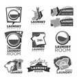 laundry service or laundromat labels vector image vector image