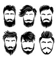 man hair style shaved haircut and barber grooming vector image