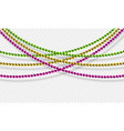 mardi gras beads isolated on transparent vector image vector image