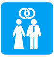marriage persons rounded square icon vector image vector image