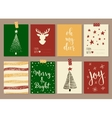merry christmas and happy new year vintage gift vector image vector image