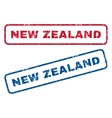 New Zealand Rubber Stamps vector image vector image