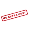 No Extra Cost Rubber Stamp vector image vector image