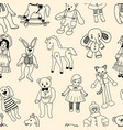 pattern of the various old toys vector image