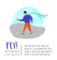 people traveling by plane man in airport vector image vector image