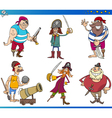 Pirates Cartoon Characters Set vector image vector image
