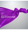 Purple silk fabric vector image vector image