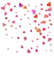 red hearts confetti celebrations simple festive vector image vector image