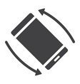 rotate smartphone glyph icon web and mobile vector image