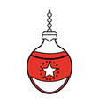 round christmas ornament design vector image vector image