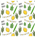 seamless pattern for jewish holiday sukkot vector image vector image
