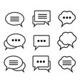 set of speech bubble linear icons vector image vector image