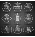 Set of steel-glass labels vector image