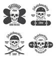 skateboard emblems 2 vector image vector image