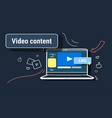 social media marketing feedback video sharing and vector image