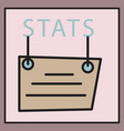 statistics icon infographic chart symbol modern vector image vector image