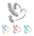 stylized a dove vector image