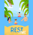 summer family vacation on tropical resort vector image vector image