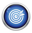 Target with dart in bulleye icon vector image vector image
