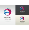 trendy abstract vibrant and colorful icon vector image