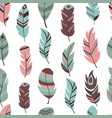 tribal feather seamless pattern background bird vector image