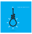 Turn on Creative light bulb concept vector image vector image