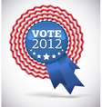 Vote 2012 USA Badge vector image