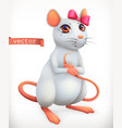 white mouse animal in the chinese zodiac chinese vector image vector image