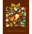 Winter holidays card vector image vector image