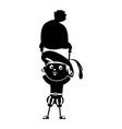 zwarte piet silhouette vector image vector image